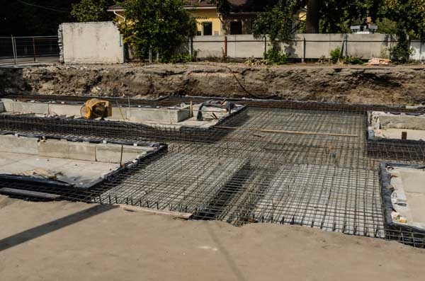 Framework for the foundation of the building