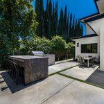 Modern Backyard Patio Area New Construction