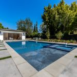View from Pool of Modern House Build in LA