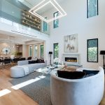 Living Room of New House Construction Project in LA
