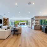 Open Living Room of New House Construction Project in LA