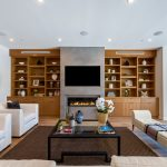Living Room of Custom House Construction Project in LA