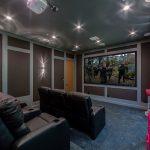 Movie Theater Room of Custom House Build in LA