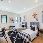 Bedroom of Custom House Build in LA