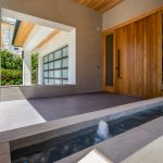 Front Entryway of Modern New Construction Project in LA