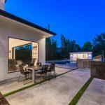 Patio of Custom House Build in LA