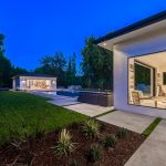 Backyard & Pool of Custom House Build in LA